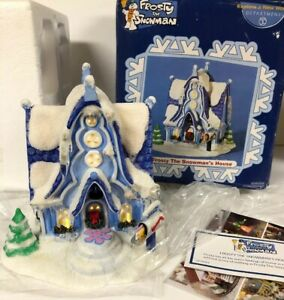 DEPT-56-FROSTY-THE-SNOWMAN-039-S-HOUSE-Christmas-Village-Lighted-RARE-In-Box