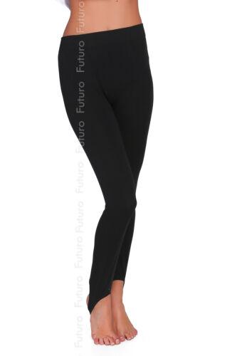 Winter Warm Cotton Black Stirrup Footless Leggings Stretch Soft Nap Fleece LS