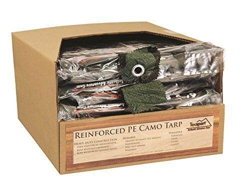Texsport Reinforced Rip-Stop Polyethylene Tarp (Camouflage, 12 x 16-Feet) , New,