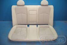 Mercedes E-Kl W211 Rücksitz Sitz hinten Rücksitzbank Teilleder Beige