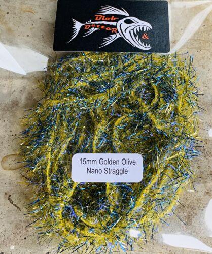 15mm Golden Olive Nano Straggle