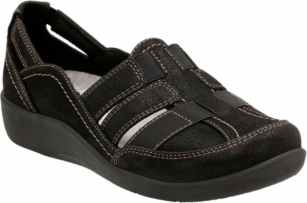 Womens Clarks Cloudsteppers Shoes Sillian Stork Black Casual Shoes Cloudsteppers [26125891] f099f7
