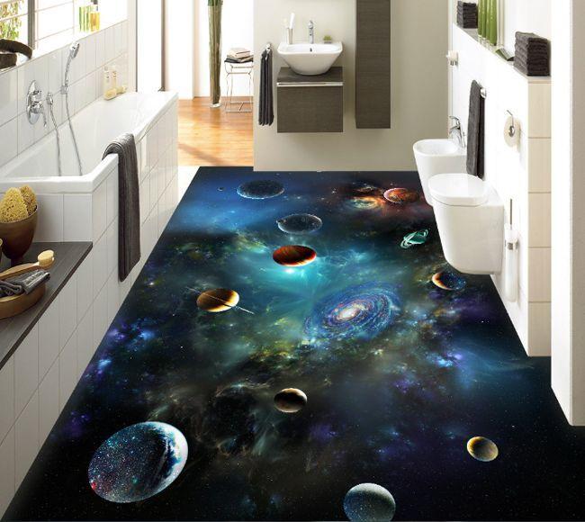 3D space universe 6208 Floor WallPaper Murals Wall Print Decal 5D AJ WALLPAPER