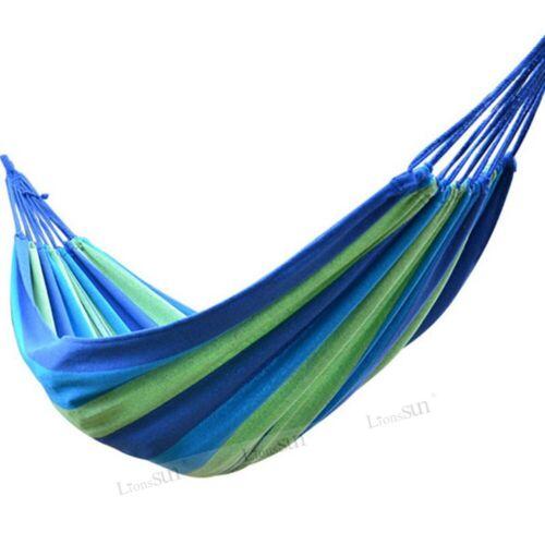 Parachute Double Hammock Mosquito Net Camping Hanging Bed Sleeping Nylon Fabric