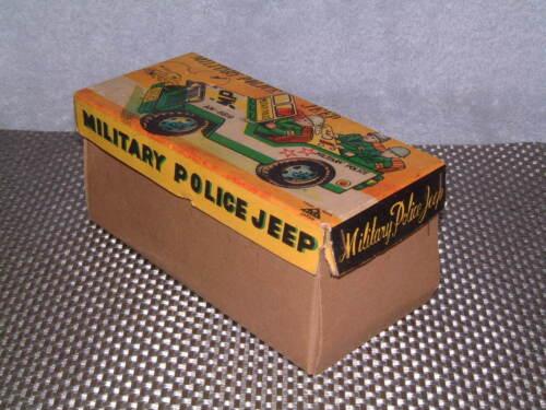 VINTAGE MITSUHASHI MILITARY POLICE TIN FRICTION DRIVEN JEEP W/BOX! Alle Artikel in Elektrisches Spielzeug RARE