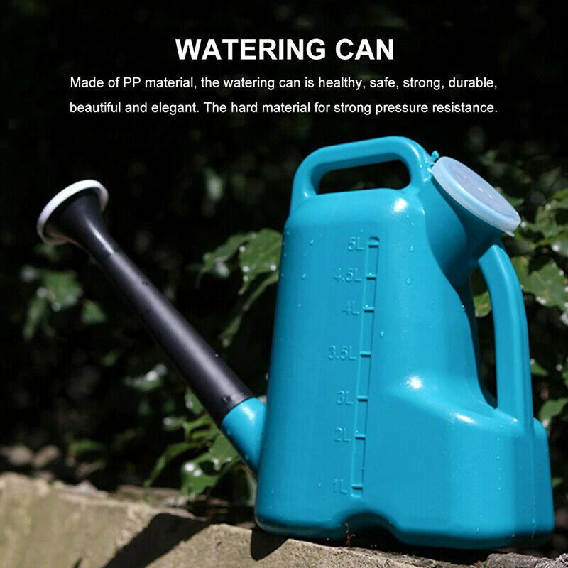 3/5L Large Capacity Garden Watering Can with Long Mouth Plastic Plant Watering