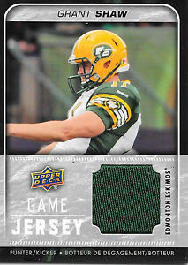 2015-Upper-Deck-CFL-GJ-GS-Grant-Shaw-UD-Game-Jersey