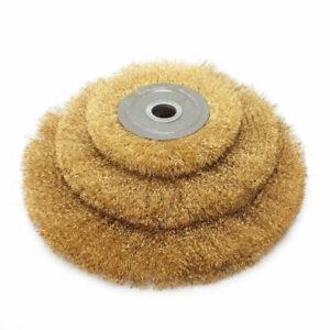 6 Inch Soft Brass Wire Brush Round Wheel For Bench Grinder 150mm Arbor Ebay