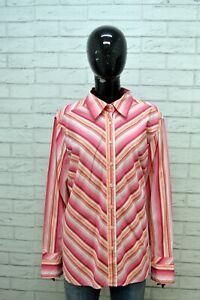 TOMMY-HILFIGER-Camicia-Donna-Taglia-2XL-Maglia-Camicetta-a-Righe-Shirt-Women-039-s