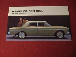 1963 Nash AMC Rambler Canada sales Brochure booklet Catalog Book Old