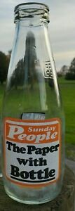 Collectable-Vintage-Coop-Pint-Milk-Bottle-The-Sunday-People-Bingo-c1986