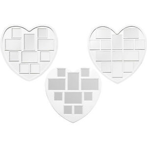 Love Heart Multi Collage Large White Plastic Aperture Wall Picture