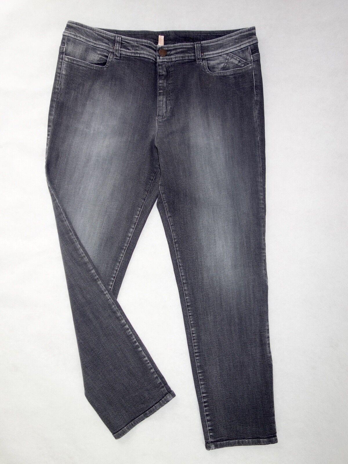 MARCCAIN Jeans mit toller Waschung Gr. N5 (42)  N6 (44) grau  NEU Marc Cain