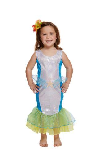 Sirena Vestido de hadas Niño Chicas Lujo Día Mundial Del Libro Semana Disfraz de pescado 2-4