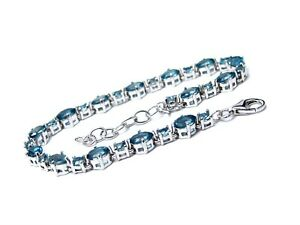 Sterling-Silver-London-Blue-Topaz-Bracelet-Adjustable-7-5-8-inches