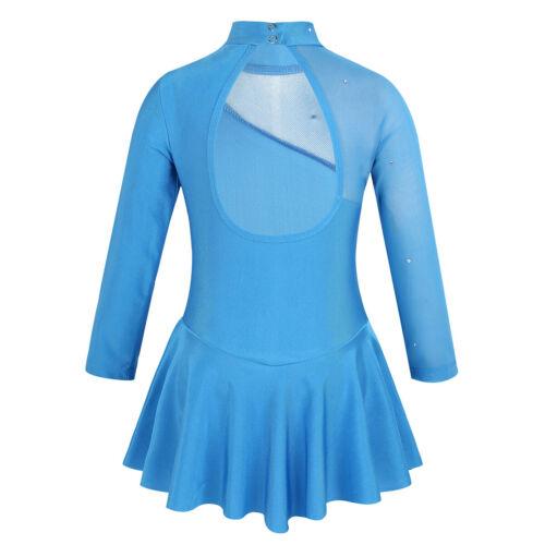 Kid Girls Ballet Dancing Dress Figure Ice Skating Leotard Gym Dancewear Costumes