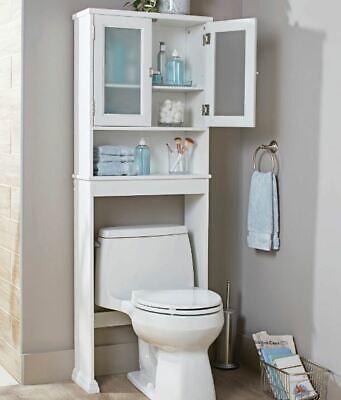 Over Toilet Bathroom Cabinet Space Saver Organizer Storage Shelf