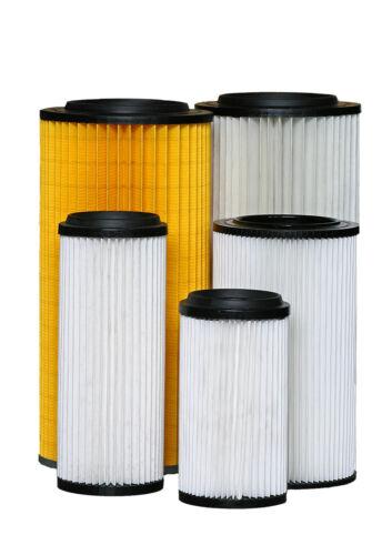 Filtro in poliestere con guarnizione per centrale aspirante - dimensioni varie