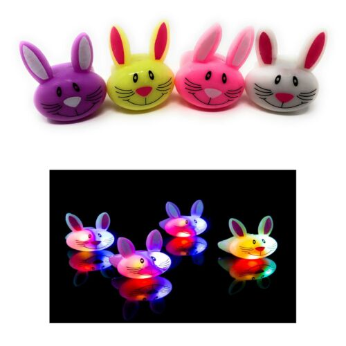 2 to 96 Bunny Rabbit Flashing LED Jelly Rings Light Up Finger Favour Wholesale