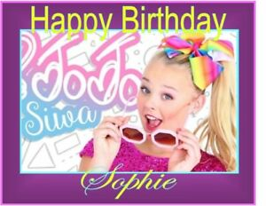PERSONALISED JOJO SIWA BIRTHDAY CAKE TOPPER A4 ICING SHEET ...