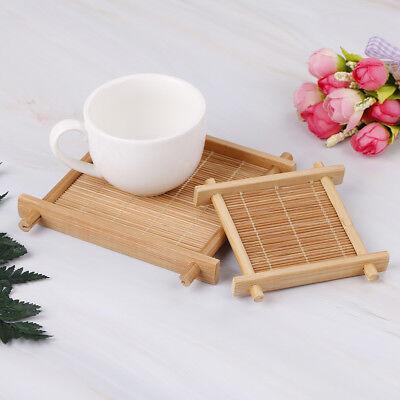 Bamboo Insulated Mat Tea Cup Bowl Mat Coaster Placemat Table Decor Organizer