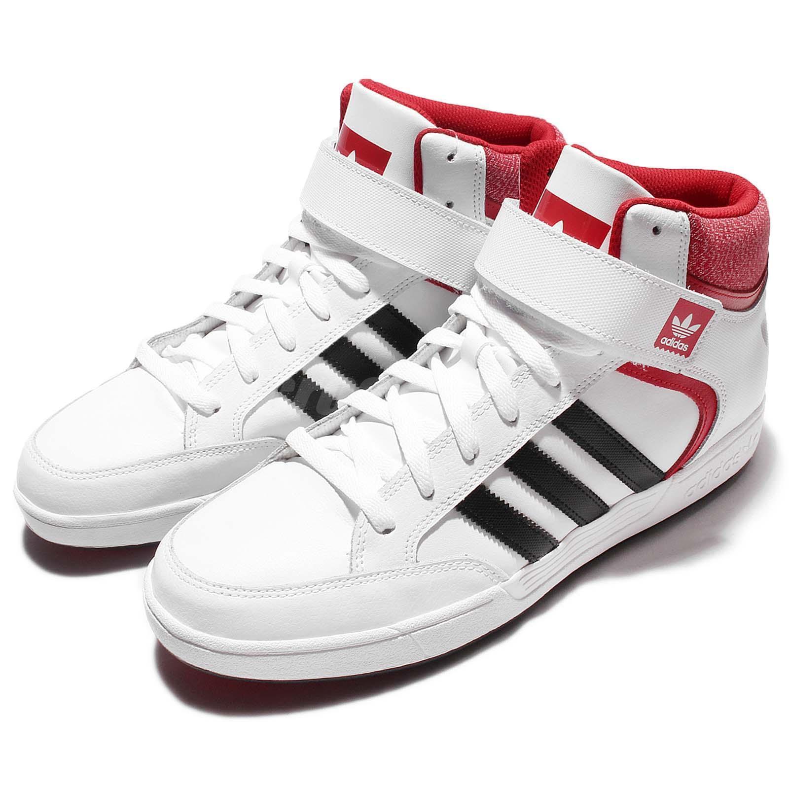 schöne adidas originals varial mitte weiß, schwarz - rot - kreuz - mens
