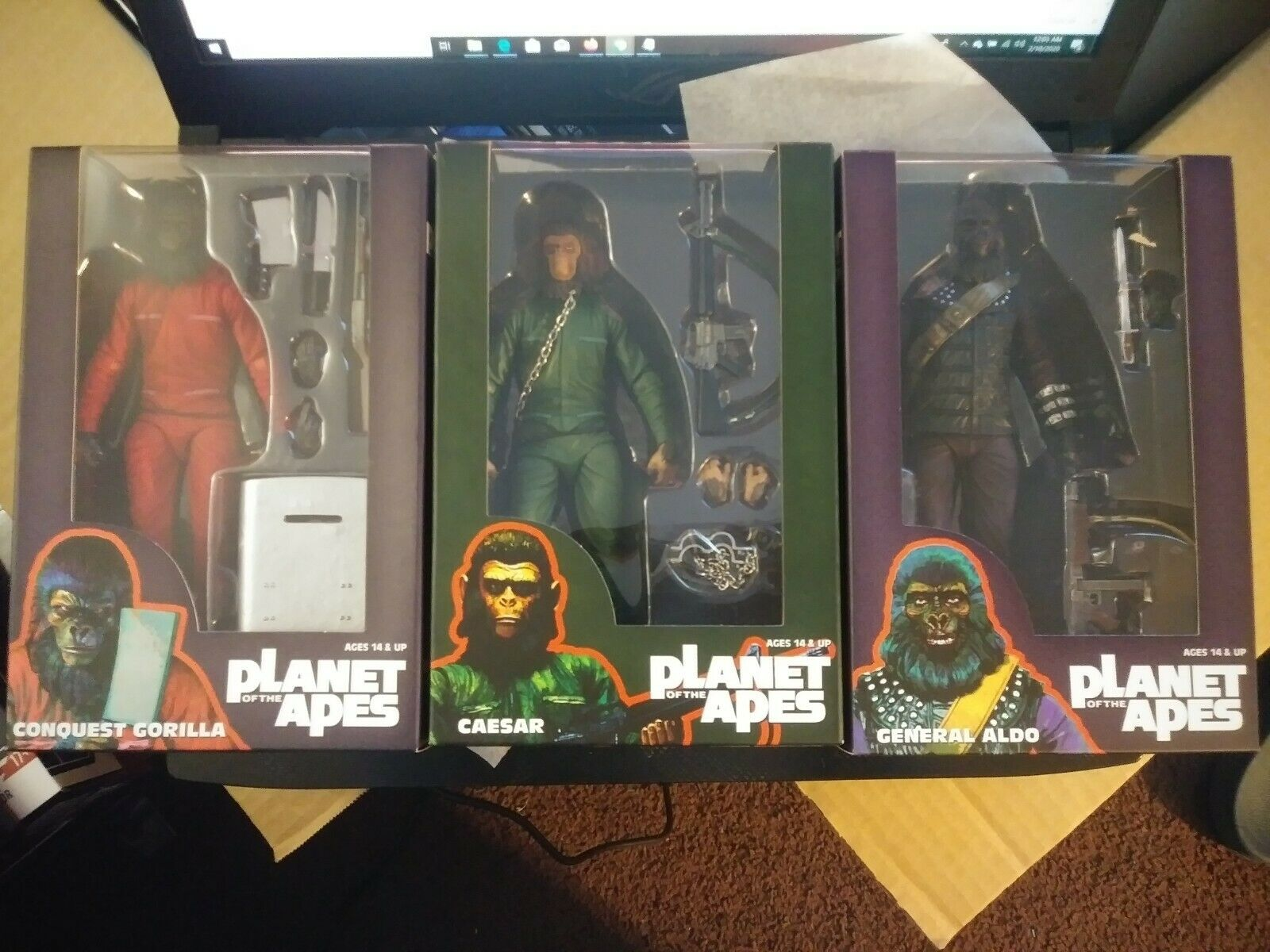 NECA Planet of the Apes Classic Series 3 General Aldo 7 Action Figure