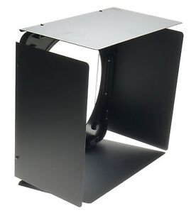 LARGE-BLACK-KOMPENDIUM-HOODS-FLIP-OUT-TYPE-WITH-FLAPS-FOR-LIGHTS-30cm-SQUARE