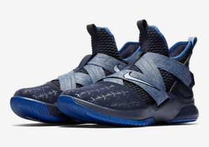 970ca54842ec Men s Nike Lebron Soldier XII Basketball Blackened Blue Size 8-12 ...