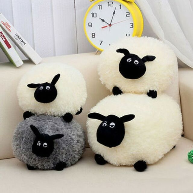 New cute Stuffed Soft Plush Toys Sheep Character Kids Toy clever Shaun gift e