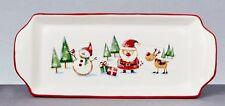 Christmas Tableware Ceramic Santa & Friends 33cm Oblong Serving Plate Dish NEW