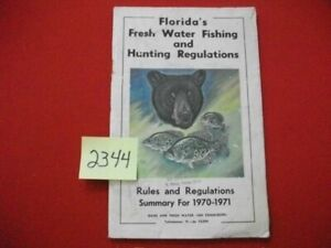 VINTAGE-1970-1971-FLORIDA-FRESH-WATER-FISHING-amp-HUNTING-REGULATIONS-BOOKLET-HTF