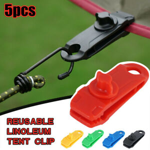 5PCS-Reusable-Tent-Tarp-Tarpaulin-Clip-Clamp-Buckle-Camping-Tool-Heavy-Duty-Sale