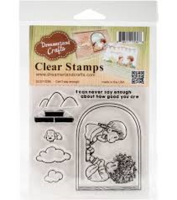 "Dreamerlandcrafts Clear Stamp /& Die Set 4/""x4/""-spreading The Good News"