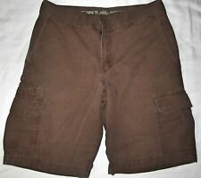 """NWT Dickies Brown Plaid mens work  shorts 11"""" Inseam relaxed fit size 30"""