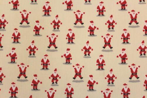 """Large 44/"""" Haute Qualité 2 col Noël Happy Santa Premium imprimé en polycoton"""