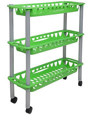 Ondis24 Rollwagen Badwagen Haushaltwagen Nischenwagen Nischenregal Still grün