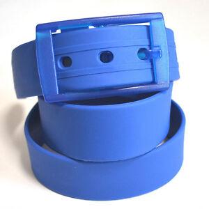 120cm Unisex Men Women Candy Colour Silicone Belts Buckle Adjustable Simple Hot