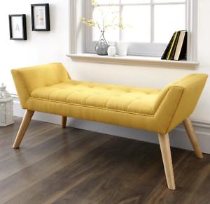 Modern Seat Bench Hall Furniture Bedroom Window Seat Ottoman Home Entry Decor UK
