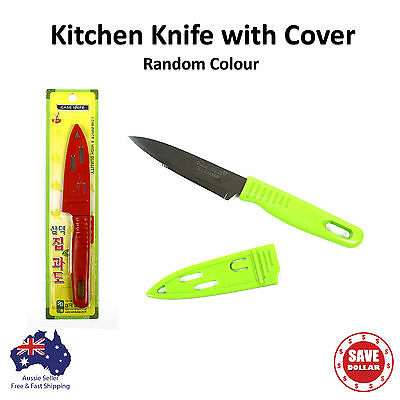 Kitchen Stainless Steel Knife with Cover Vegetable Fruit Peeler Carving Slicing