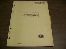 12078 John Deere Parts Catalog PC-611 Harvester Forage model 6 dated sep 66