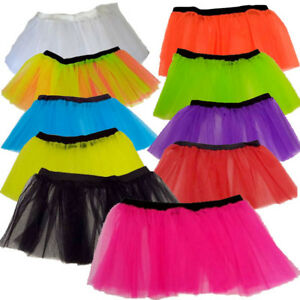 3ea97e847 4 TO 12* CHILDRENS KIDS NEON TUTU SKIRT 1980S 80S FANCY DRESS BALLET ...