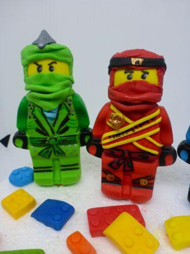 Lloyd LEGO Ninjago Edible Handmade Age Name Birthday Cake Topper Combined P/&P