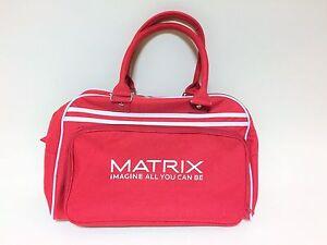 RETRO BOWLING BAG rot/weiß NEU Sporttasche Sportsbag Gym Schule Tasche Damen