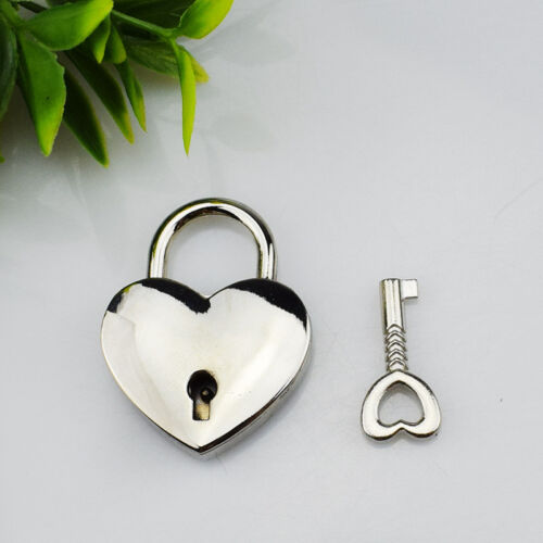 "1//8/""x 1//2/"" Heart shape Padlock Notebook//Luggage//Zipper Puller Lock 30mm*39mm"
