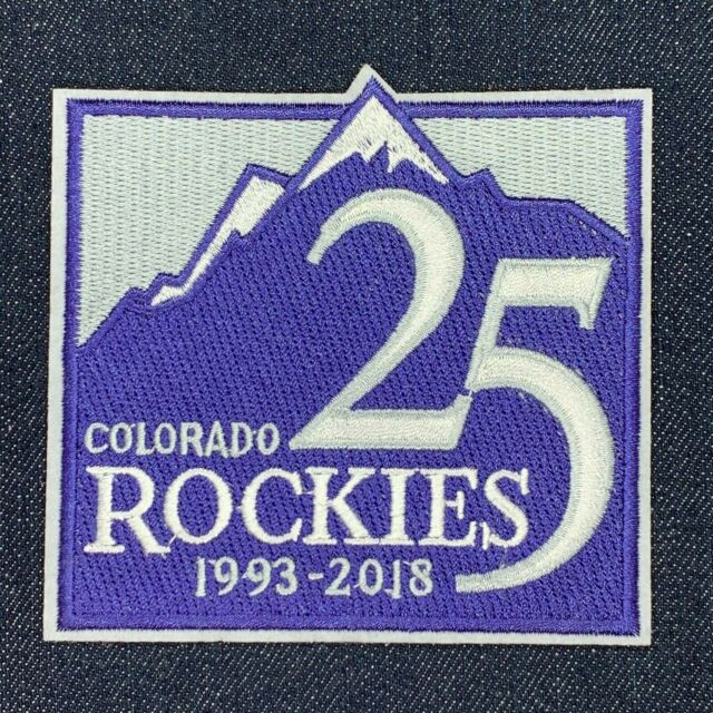 Colorado Rockies MLB Jersey 25 Years Patch Coors 1993 Iron On Sew Hoodie Jacket