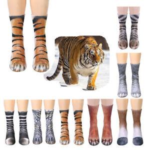 Novelty-Unisex-3D-Printed-Animal-Paw-Hoof-Tube-Crew-Cotton-Stretchy-Kids-Socks