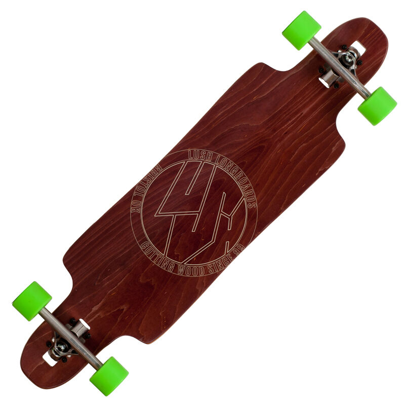 LUSH Freebyrd Complete Longboard Drop-Through Komplettboard davor (2018)