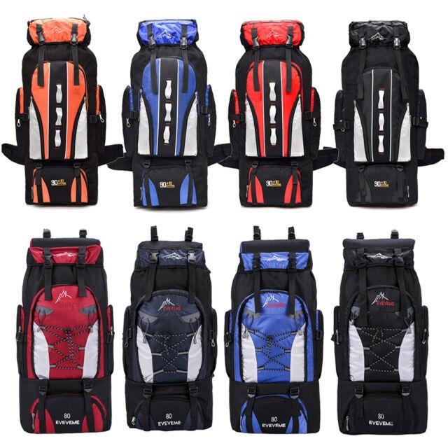 100L Sport Bag Backpack Gym Duffle Bag Outdoor Camping Travel Rucksack Black