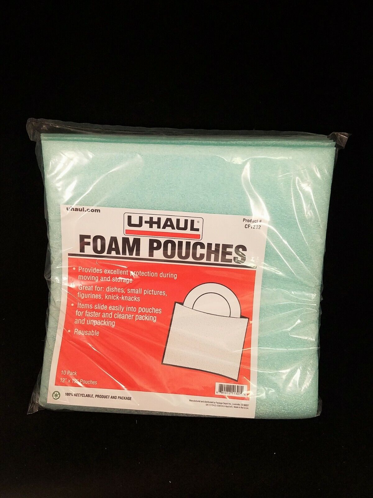 Protect Dishes UBOXES 7x11-7//8 Foam Pouches for Glasses 25 Pack